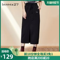 skirt Autumn 2020 S M L XL black Mid length dress commute High waist other Solid color Type H 25-29 years old M9C6029 51% (inclusive) - 70% (inclusive) other IAmMIX27 Viscose Embroidery Simplicity Same model in shopping mall (sold online and offline)
