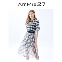 Fashion suit Summer 2021 S M L black and white 25-35 years old IAmMIX27 51% (inclusive) - 70% (inclusive) cotton Same model in shopping mall (sold online and offline)