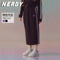 skirt Spring 2021 S M Black Purple Mid length dress street Natural waist A-line skirt Solid color 18-24 years old PNES21KS03 More than 95% NERDY polyester fiber Polyester 100% Sports & Leisure