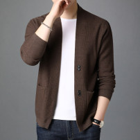 T-shirt / sweater Others Fashion City Gray, black, camel, brown M,L,XL,XXL,XXXL routine Cardigan V-neck Long sleeves ZAC00996 spring Straight cylinder 2021 leisure time tide youth routine Solid color No iron treatment Fine wool (16 and 14 stitches) other