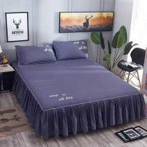 Bed skirt 180cmx220cm single bed skirt, 120cmx200cm single bed skirt, 150cmx200cm single bed skirt, 180cmx200cm single bed skirt, 200cmx220cm single bed skirt cotton Other / other Solid color First Grade