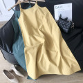 Dress Autumn 2020 Brown 2, yellow 1, black 4, green 3 Average size longuette Sleeveless commute Crew neck Socket other camisole 18-24 years old Korean version SG412090 30% and below