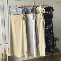 skirt Spring 2021 Average size Grey blue skirt, deep apricot skirt, off white skirt, royal blue skirt, apricot skirt, blue skirt, white skirt, black skirt Mid length dress Sweet High waist other Dot Type A 18-24 years old FG309254 30% and below other other college