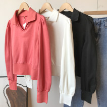 shirt Orange shirt, white shirt, black shirt Average size Spring 2021 cotton 30% and below Long sleeves commute Regular Polo collar routine Solid color 25-29 years old Self cultivation Korean version FG307564 Button