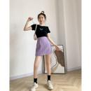 skirt Summer 2020 S,M,L Rose skirt, purple skirt, pink skirt, green skirt, yellow skirt Short skirt commute High waist A-line skirt lattice Type H 18-24 years old KCXY903965 30% and below other Korean version