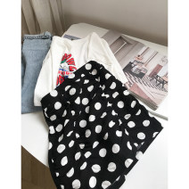 skirt Summer 2021 S,M,L White, black Short skirt commute High waist skirt Dot Type A 18-24 years old FG417102 30% and below Other / other other Korean version
