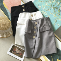 skirt Summer 2020 S,M,L White skirt, black skirt, grey skirt Short skirt commute High waist A-line skirt Solid color Type A 18-24 years old SG302613 30% and below other other Korean version