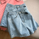 skirt Spring 2021 S,M,L blue Short skirt commute High waist A-line skirt Solid color Type A 18-24 years old FG416776 30% and below Other / other other Korean version