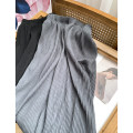 skirt Autumn 2020 Average size Gray, black Mid length dress Sweet High waist Solid color 18-24 years old FG512640 30% and below solar system