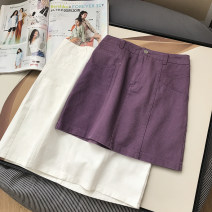 skirt Summer 2021 S,M,L,XL Purple, white Short skirt commute High waist skirt Type A 18-24 years old FG417097 30% and below Other / other other Korean version