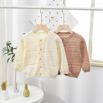 Sweater / sweater 80cm 90cm 100cm 110cm 120cm Pure cotton (100% cotton content) male Beige bean paste Da Ai Xiao Ke leisure time No model Single breasted routine Crew neck nothing Fine wool Solid color Cotton 100% CL-C2081 Class A Long sleeves Spring 2020 spring and autumn