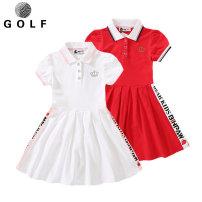 Golf clothing KEROMIE For children White, red Lapel Short sleeve Summer 2020