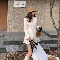 Fashion suit Winter 2020 S M L XL White coat + skirt black coat + skirt 18-25 years old Huiyan H04155 Polyester 100% Exclusive payment of tmall