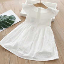 Dress white female Other / other 110cm,100cm,130cm,120cm,90cm Other 100% summer lady Skirt / vest other Cotton and hemp Lotus leaf edge Class B 2 years old, 3 years old, 4 years old, 5 years old, 6 years old, 7 years old Chinese Mainland Guangdong Province Foshan City