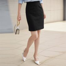 skirt Spring 2021 1 / XS, 2 / s, 3 / m, 4 / L, 5 / XL, 6 / XXL black Middle-skirt commute High waist skirt Solid color Type H 30-34 years old 30% and below other Xgirdearst / heathy nylon Ol style