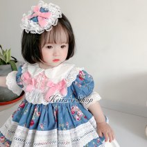 Dress female Other / other Cotton 100% No season princess Short sleeve Pure cotton (100% cotton content) Cake skirt Class A 12 months, 18 months, 2 years old, 3 years old, 4 years old, 5 years old, 6 years old, 7 years old