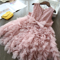 Dress White, gray, blue, even pink, summer Aisha, pink female Other / other 100cm,110cm,120cm,130cm,140cm Polyester 55% cotton 45% summer princess Skirt / vest other Cotton polyester Cake skirt A00411 Class B Chinese Mainland Guangdong Province Guangzhou City