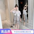 Dress khaki female Fun clothes 100cm 110cm 120cm 130cm 140cm 150cm 160cm Other 100% summer Korean version Short sleeve Solid color cotton A-line skirt t12009 Class B Summer 2021 Chinese Mainland