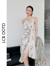 Dress Summer 2021 Decor XS,S,M,L Mid length dress singleton  Sleeveless commute High waist Irregular skirt camisole 18-24 years old Type A Korean version More than 95% polyester fiber