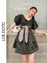 Dress Summer 2021 black XS,S,M,L Short skirt singleton  Short sleeve commute V-neck High waist A-line skirt puff sleeve 18-24 years old Type X Korean version 51% (inclusive) - 70% (inclusive)