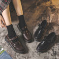Low top shoes 35,36,37,38,39,40 Other / other Black, dark brown Round head PU Flat bottom Low heel (1-3cm) Shallow mouth PU Spring 2021 Flat buckle solar system Adhesive shoes Middle aged (40-60 years old), student Solid color rubber Single shoes Shallow opening, waterproof platform PU daily 333-3