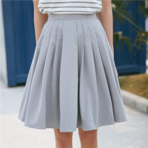 skirt Autumn 2020 Average size Grey (premium), blue (premium) Short skirt Sweet High waist A-line skirt Solid color 18-24 years old eight point one zero solar system