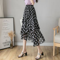 skirt Winter 2016 Average size White, black longuette High waist Cake skirt 0320Y221816783797 Chiffon Hollowing out