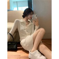 Square Dance Dress S,M,L,XL Picture color (priority for collection store) other Long sleeves routine Short skirt female