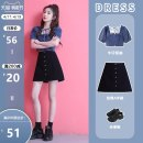 skirt Spring 2021 S M L XL 2XL Black (with lining) dark blue light blue black white Short skirt commute High waist A-line skirt Solid color Type A 18-24 years old CHUNMU-152403 More than 95% Denim Spring twilight cotton Pleated pockets for old buttons Korean version Cotton 100%