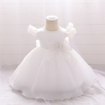 Dress Rice white shrimp powder female Xia Anman 80cm 90cm 100cm 110cm 120cm 130cm Polyester 100% summer princess Skirt / vest Solid color polyester fiber A-line skirt Class B Spring 2021 12 months 6 months 9 months 18 months 2 years 3 years 4 years 5 years old Chinese Mainland Guangdong Province