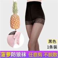 Leggings Summer 2020 Black average size of anti wolf socks [80-130 kg], black plus size of anti wolf socks [130-180 kg], skin color average size of anti wolf socks [80-130 kg], skin color plus size of anti wolf socks [130-180 kg] Two, three, one Thin money trousers B83744 18-24 years old