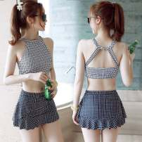 Split swimsuit Other 2065738206 watermelon red, 362, SBL split lattice red, xzc36 black Suggest m-90-105 Jin, s-75-90 Jin, l-105-118 Jin Skirt split swimsuit With chest pad without steel support other Q2015