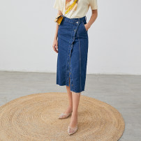 skirt Spring 2020 S,M,L Denim blue Middle-skirt commute High waist Denim skirt Type A QZ02AE01877 More than 95% other Lucidy / lucidy Simplicity