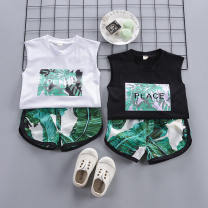 suit Lizu bear 80cm 90cm 100cm 110cm 120cm male summer leisure time Sleeveless + pants 2 pieces Thin money Socket nothing other cotton children Expression of love Class A Cotton 93.5% polyurethane elastic fiber (spandex) 6.5% Summer of 2019 Chinese Mainland
