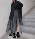 skirt Autumn of 2019 Average size black Mid length dress High waist Fairy Dress Type A 71% (inclusive) - 80% (inclusive) polyester fiber