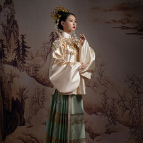 Hanfu 96% and above Dragon and Phoenix outer coat dragon and Phoenix outer horse face skirt XS S M L polyester fiber