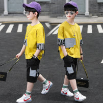 suit Super Sunday Yellow off white 110cm 120cm 130cm 140cm 150cm 160cm 170cm male summer leisure time Short sleeve + pants Thin money There are models in the real shooting nothing children TYY2071-1 Class B Chinese Mainland Zhejiang Province Huzhou City