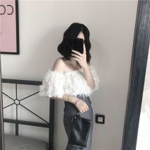 Lace / Chiffon Spring 2021 Red to black breast, black to black breast, white to white breast S 85 ~ 95 kg, m 95 ~ 105 kg, l 105 ~ 115 kg, XL 115 ~ 125 kg Socket Two piece set easy One word collar Open back, solid color