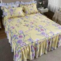 Bed skirt 180 * 220 bed skirt, 150 * 200 bed skirt + pillow case, 180 * 200 bed skirt, 150 * 200 bed skirt, 200 * 220 bed skirt, 200 * 220 bed skirt + pillow case, 180 * 200 bed skirt + pillow case, 180 * 220 bed skirt + pillow case cotton Other / other Plants and flowers First Grade