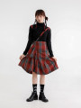 skirt Winter 2020 S, M Middle-skirt commute High waist Ruffle Skirt lattice 18-24 years old 51% (inclusive) - 70% (inclusive) polyester fiber Retro 601g / m ^ 2 and above