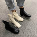 Boots 35 36 37 38 39 Black Beige PU GYTQETTT Low heel (1-3cm) Thick heel PU Short tube Square head PU PU Summer 2020 Sleeve Korean version rubber Solid color Tassel boots Adhesive shoes PU Children (under 18 years old) spring and autumn XD_ w1LrS_ 7qai69pb