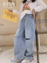trousers Miqing rabbit neutral 100cm 110cm 120cm 130cm 140cm 150cm 160cm 165cm blue trousers Jeans Other 100% CK-05 6 years old, 7 years old, 8 years old, 9 years old, 10 years old, 11 years old, 12 years old, 13 years old and 14 years old
