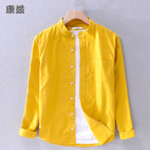 shirt Youth fashion Others M,L,XL,2XL,3XL routine stand collar Long sleeves standard Other leisure autumn youth Cotton 100% Basic public 2019 Solid color oxford No iron treatment