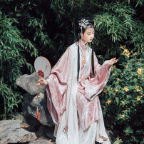 Hanfu 96% and above Summer of 2019 Long Bijia spot sell out of print stand collar slant cardigan spot sell out of print one piece hundred fold skirt spot sell out of print S M L polyester fiber
