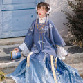 Hanfu 30% and below Square collar cardigan + short shirt + pleated skirt (3-piece set) in stock square collar cardigan + short shirt + pleated skirt (3-piece set) in stock 5 days S M L spandex