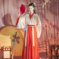 Hanfu 96% and above Hongyinghuamulan 3-piece set (in stock) hongyinghuamulan 3-piece set of the second batch issued from May 20 S M L polyester fiber