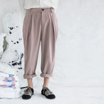 Casual pants Yewu Youth fashion routine trousers Other leisure easy No bullet autumn youth 2019 middle-waisted Cotton 100% Haren pants cotton Autumn of 2019 More than 95%