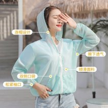 short coat Spring 2020 Average size (70-140 kg) Colorful smiley face, colorful dots, sexy lips, a-white, j-purple, i-yellow, aqua blue, pink, aqua blue, rose red, e-fluorescent green, aqua green Long sleeves have cash less than that is registered in the accounts Thin money singleton  Cape type zipper