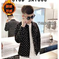 T-shirt Youth fashion 2807 black (without velvet), 2808 black (Blazer), 2809 black (corduroy), 2807 black (thickened with cotton) routine S,M,L,XL,2XL,3XL Guchti Long sleeves Lapel Self cultivation Other leisure autumn ZPS2807-1 Polyester 100% teenagers tide Rib bottom pendulum