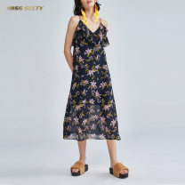 Dress Summer of 2018 XS S M L Mid length dress 25-29 years old Miss sixty More than 95% polyester fiber Polyester 100% Same model in shopping mall (sold online and offline)